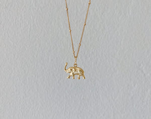 Golden Elephant Necklace