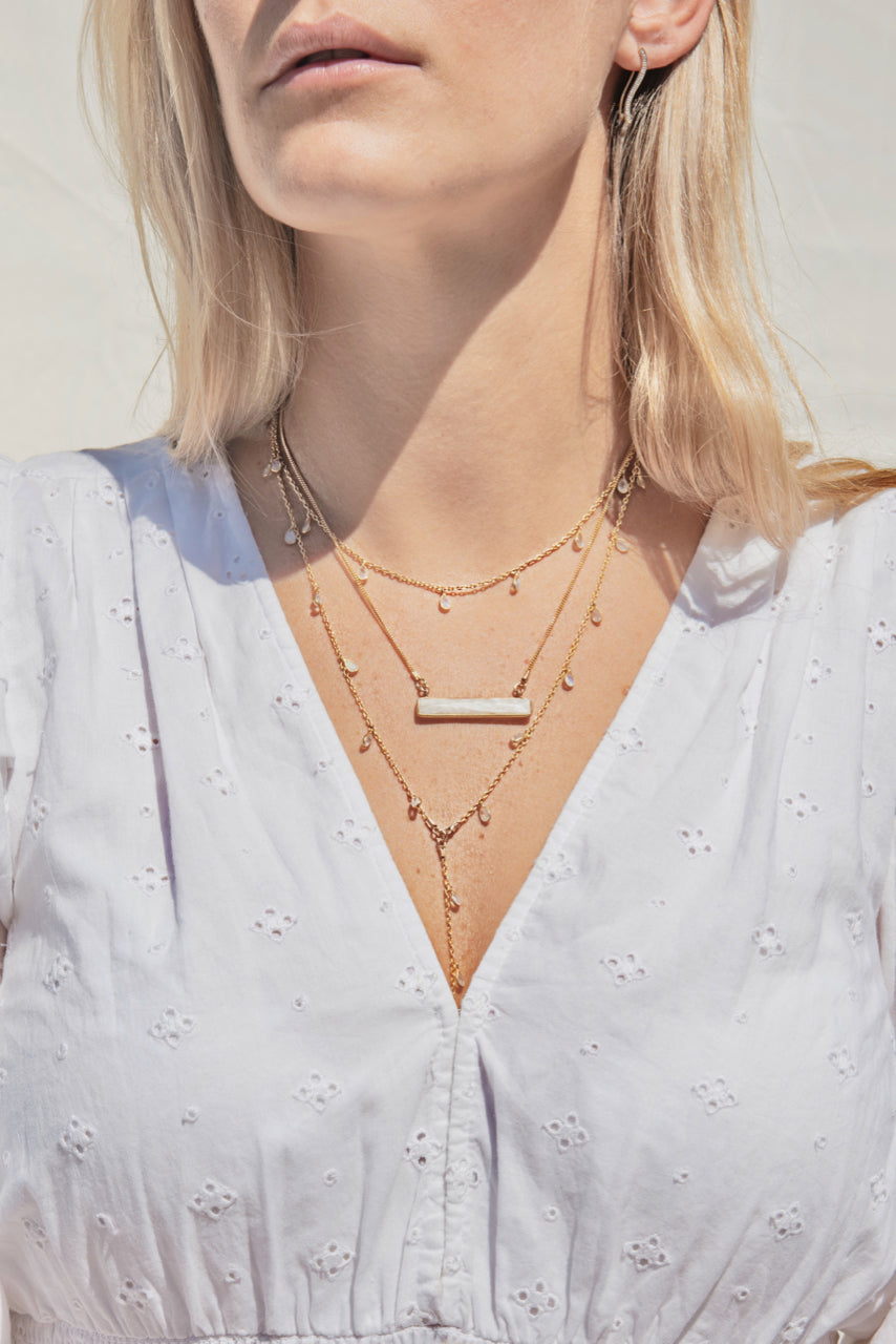 Marine Layer Necklace in Moonstone