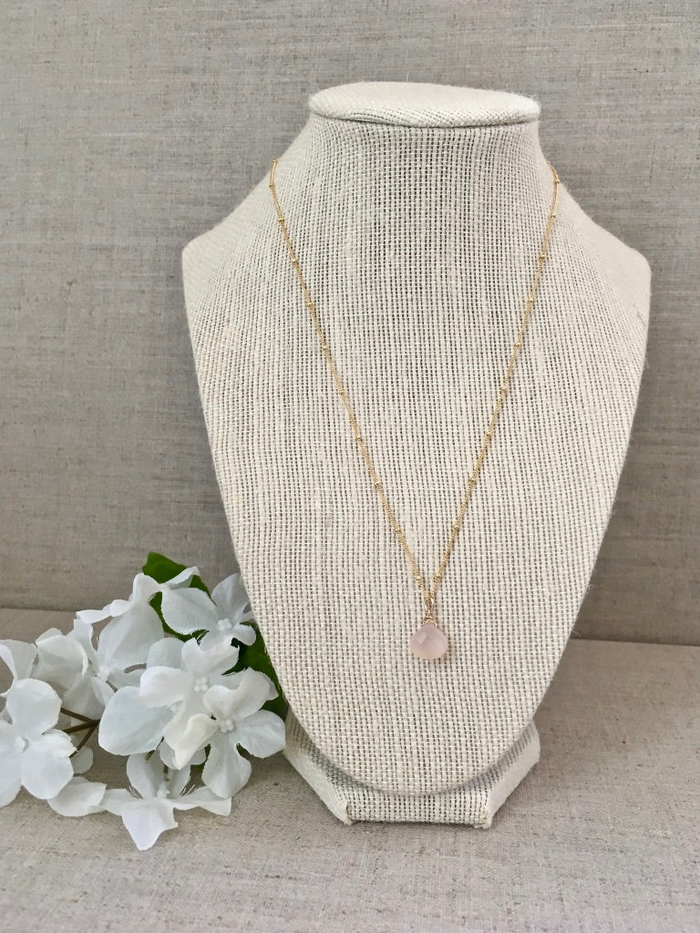 Clear Your Mind Necklace in Rose - Christiana Layman Designs