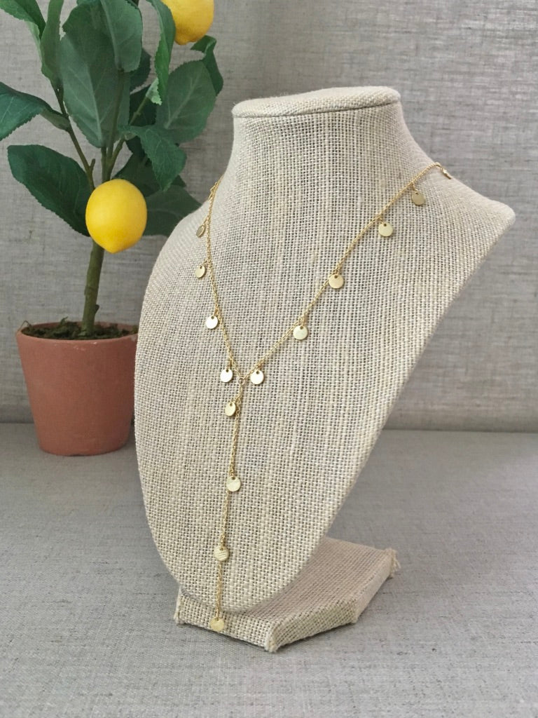 Greek Goddess Lariat in Gold - Christiana Layman Designs