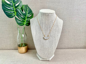 Half Dome Necklace in Moonstone