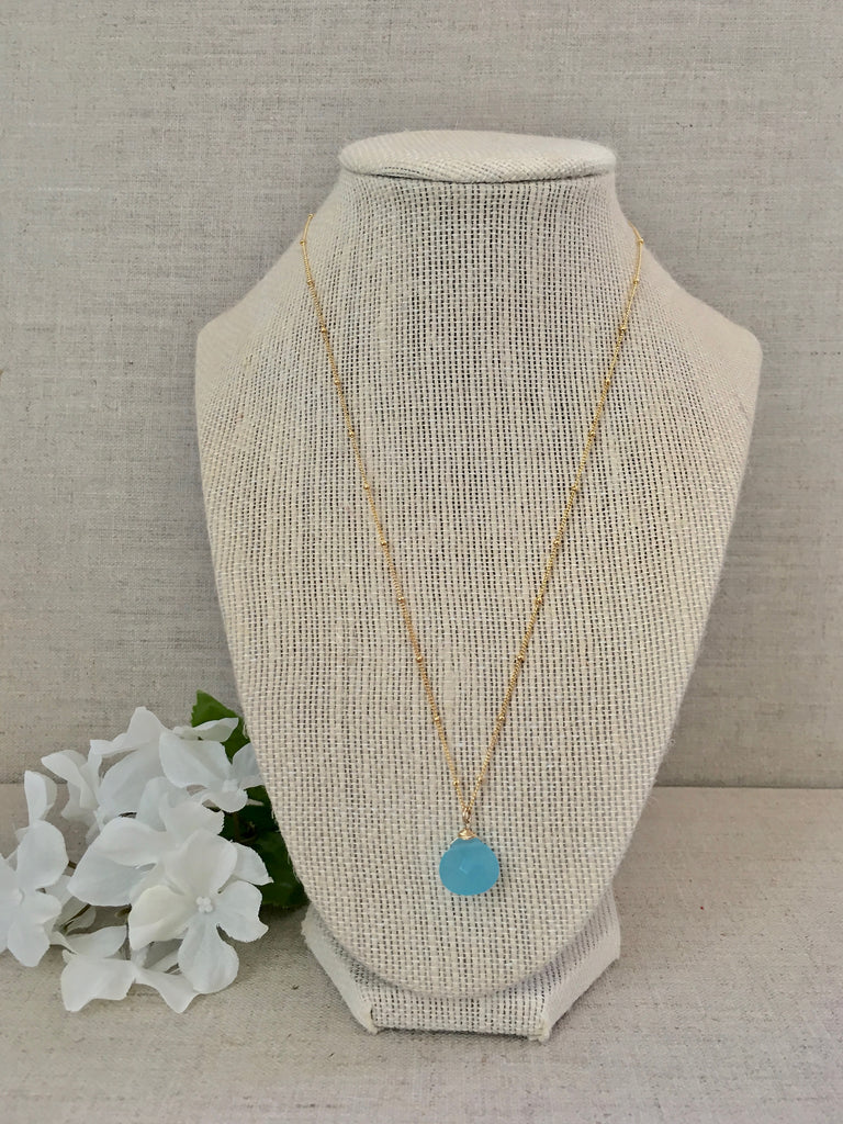 Clear Your Mind Necklace - Aqua