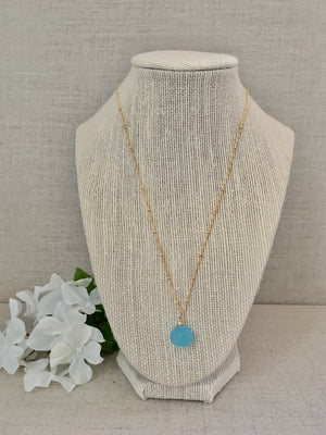 Clear Your Mind Necklace in Aqua