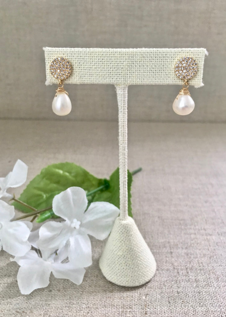 Penelope Earrings in Pearl - Christiana Layman Designs