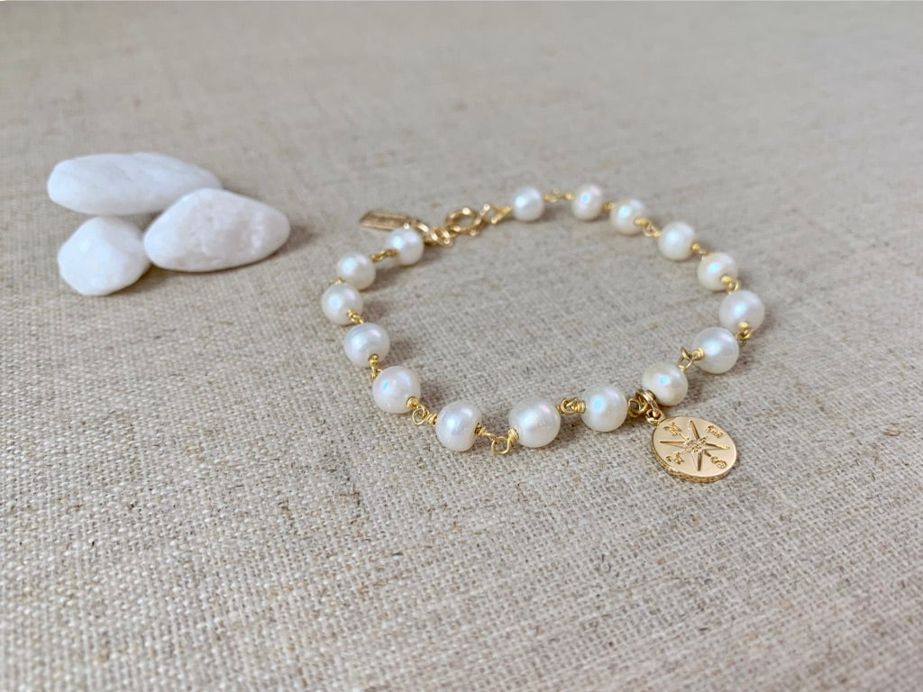 The Seafarer's Wife Bracelet in Gold - Christiana Layman Designs