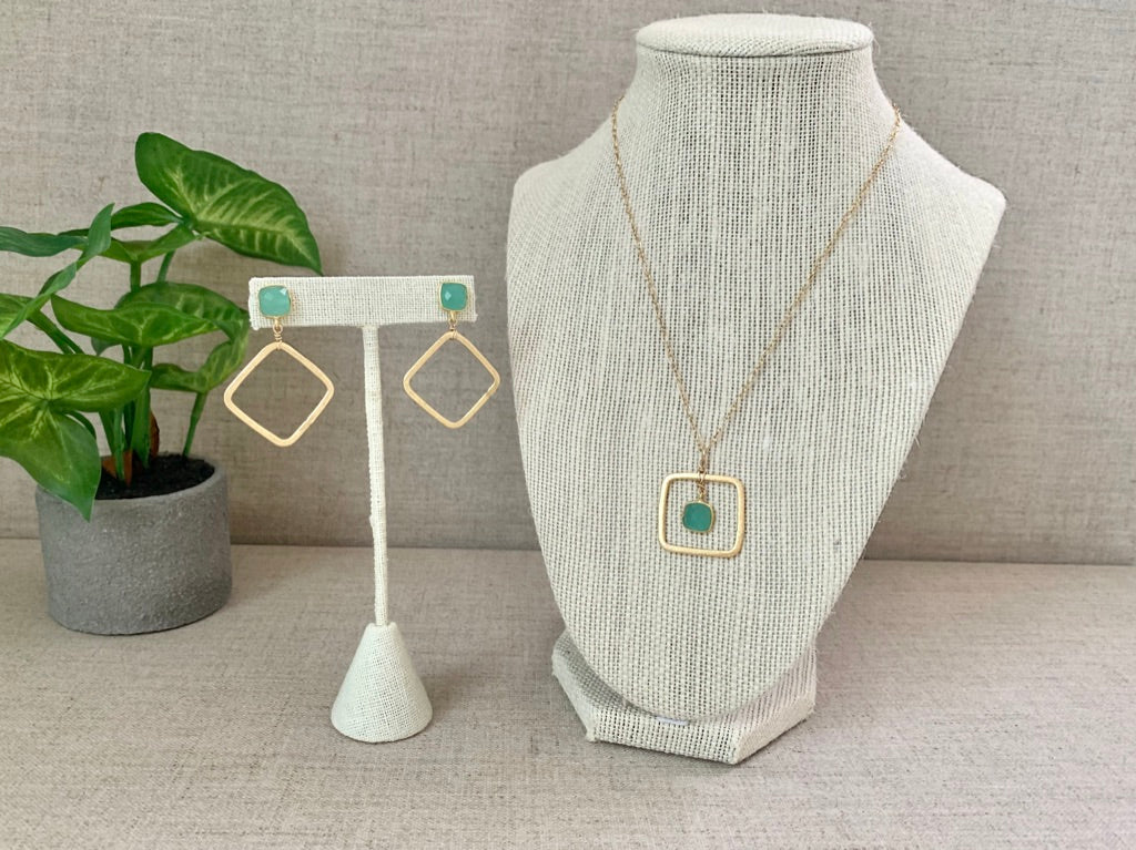 Green Flash Earrings - Christiana Layman Designs