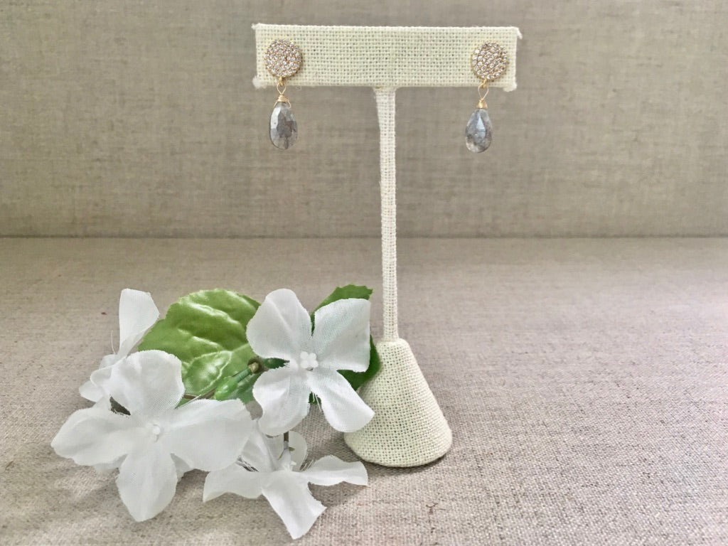 Penelope Earrings in Labradorite - Christiana Layman Designs