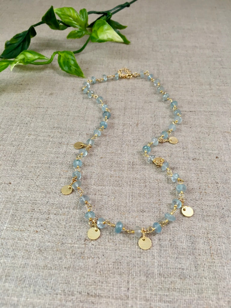 Free Spirit Necklace in Aquamarine