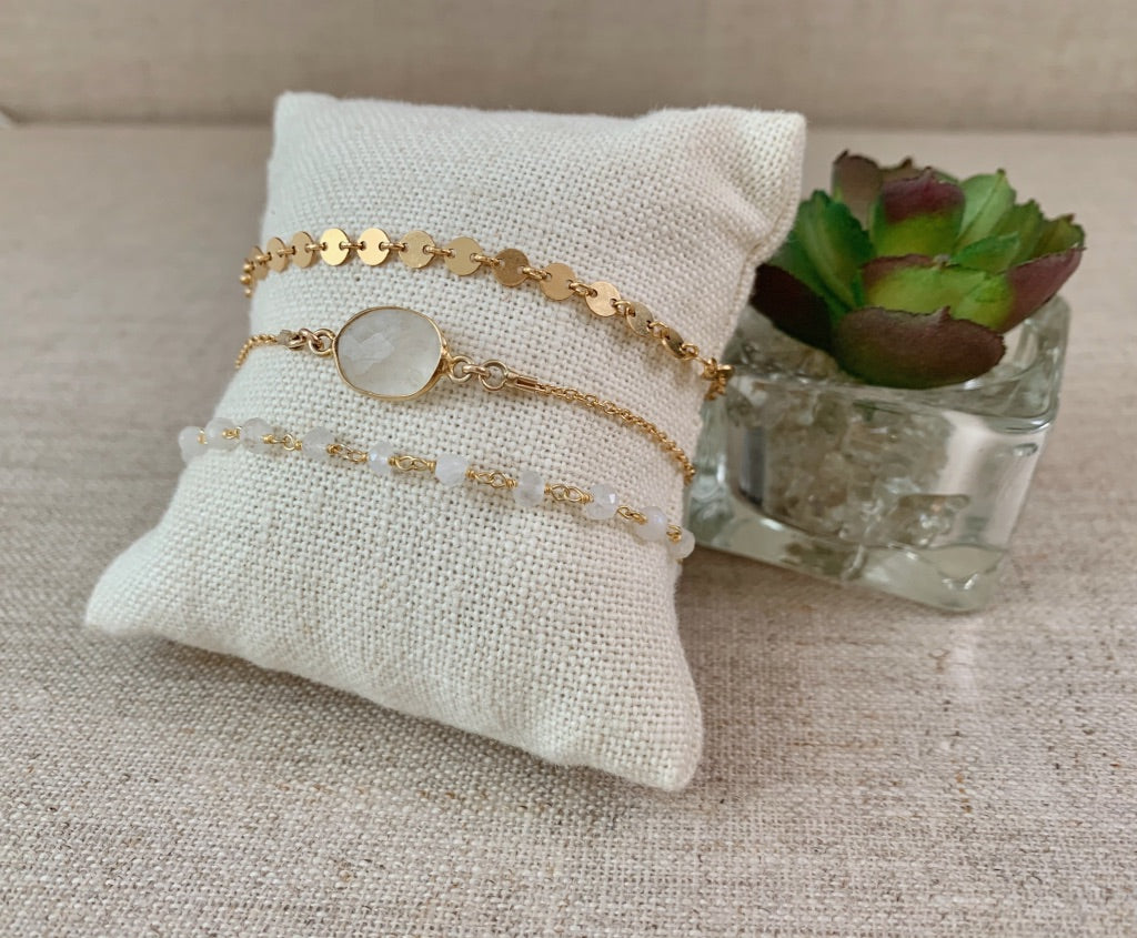 Full Moon Bracelet in Gold