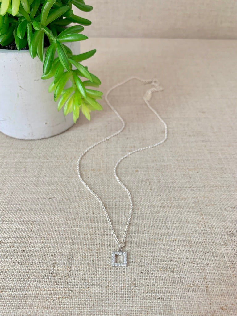 At Your Leisure Necklace in Silver - Christiana Layman Designs
