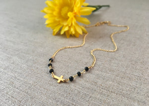 Blessed Necklace in Onyx - Christiana Layman Designs