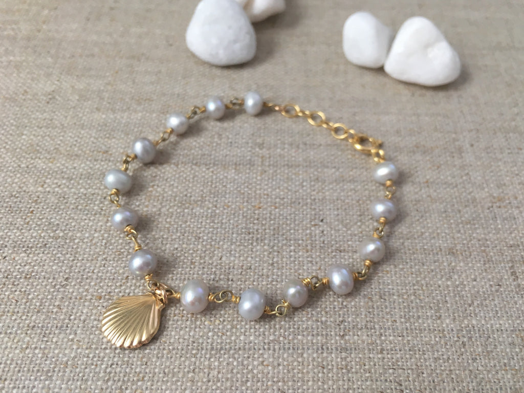 White Sand Beach Bracelet - Christiana Layman Designs