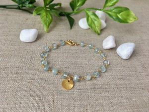 Free Spirit Bracelet in Aquamarine - Christiana Layman Designs