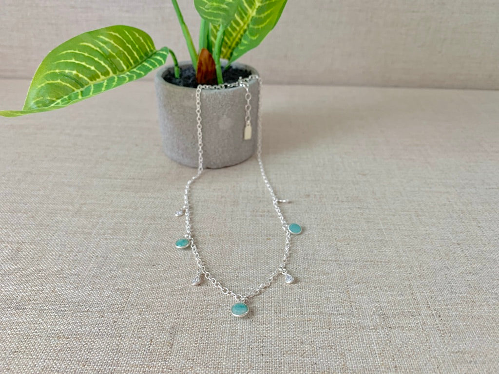 Blue Sky Basin Necklace - Christiana Layman Designs