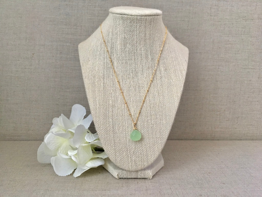 Clear Your Mind Necklace in Light Green - Christiana Layman Designs