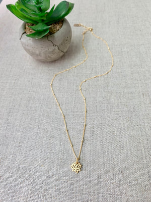 Padma Necklace in Gold