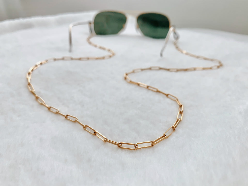 Barcelona Sunglass Chain in Gold