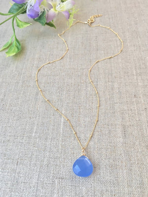 Clear Your Mind Necklace in Periwinkle