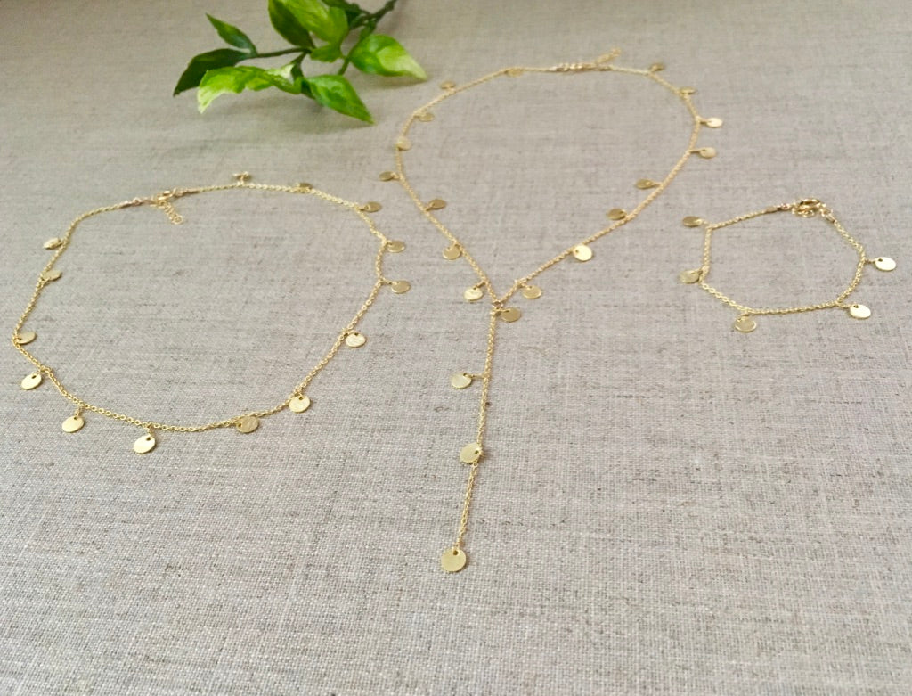 Greek Goddess Necklace in Gold