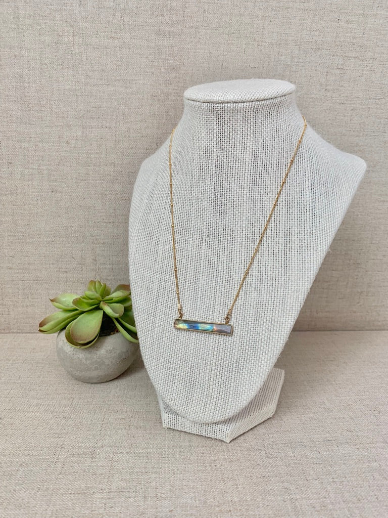 Marine Layer Necklace in Labradorite - Christiana Layman Designs