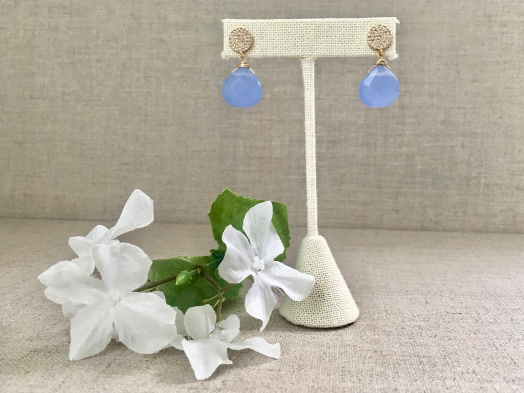 Penelope Earring in Periwinkle - Christiana Layman Designs