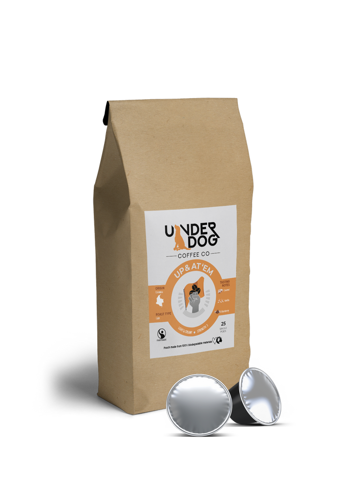 Fairtrade and Organic Biodegradable Coffee Pods