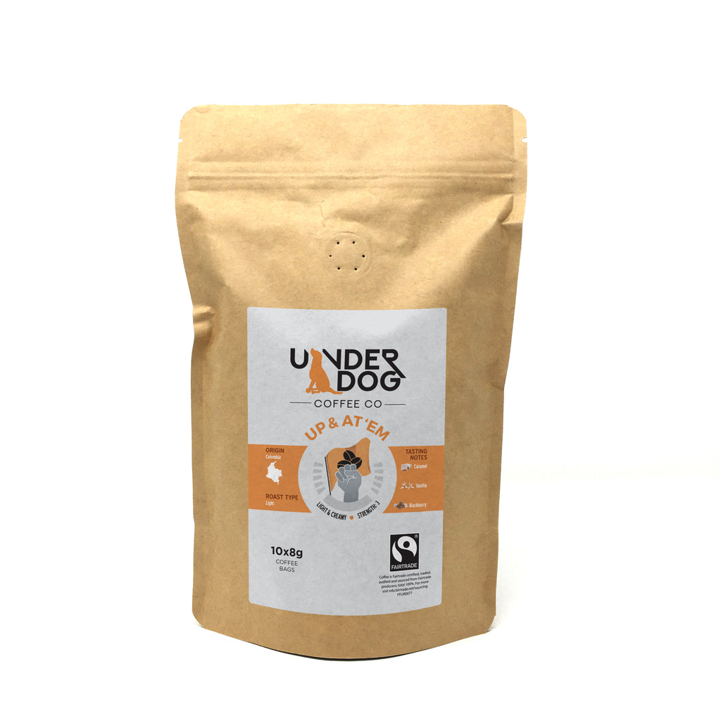Up & At 'Em Fairtrade Light Roast Coffee Dipping Bags