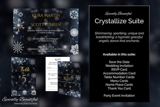 Crystallize Suite | Winter Wedding & Party Events Stationery