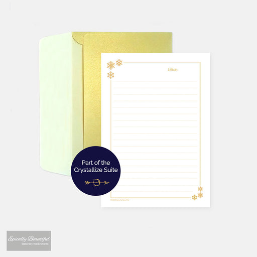 Snowflake Writing Paper Set | Crystallize Suite