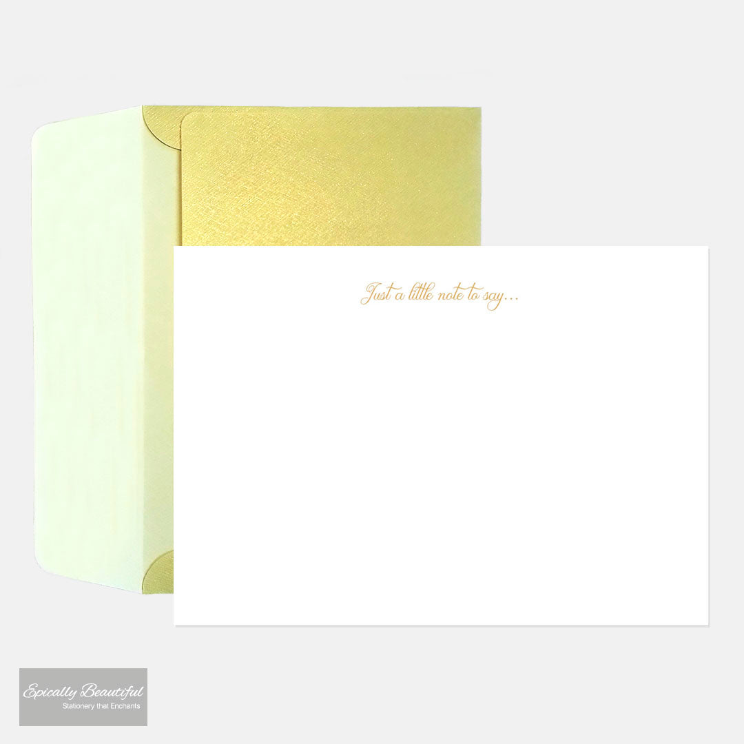 Just a little note to say... | Luxury Gold Foil Notecards