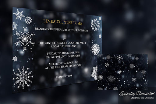 Winter Snowflakes Party Event Invitations | Crystallize Suite