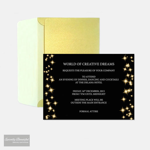 Party Event Invitations | Starry Champagne Sky