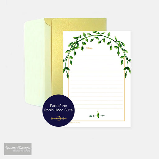 Marian & Robin Writing Paper Set | Robin Hood Suite