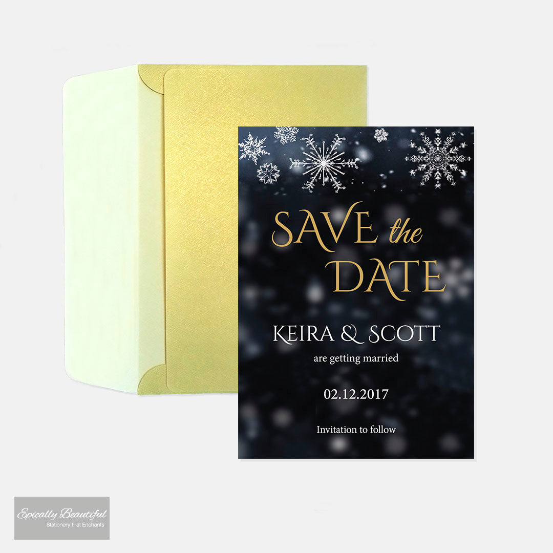 Save the Date Cards | Starry Champagne Sky
