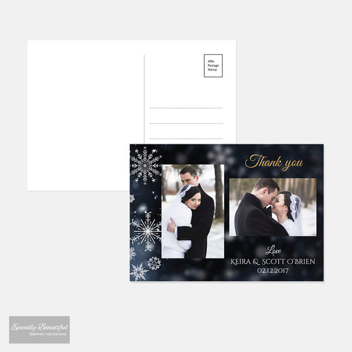 Personalised Wedding Photo Thank You Postcards | Crystallize Suite