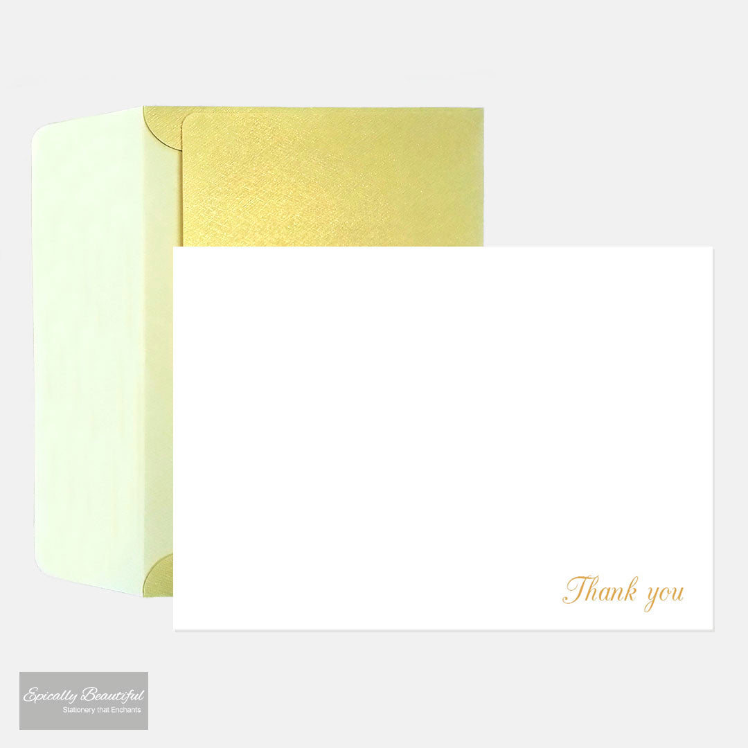 Thank You Cards | Luxury Gold Foil Notecards