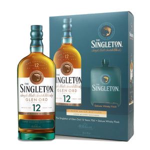 The Singleton of Glen Ord 12 Year Old 70cl with Deluxe Whisky Flask