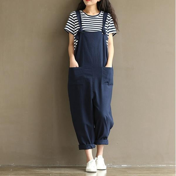 Hippie Casual Cotton Overalls (8 Colors)