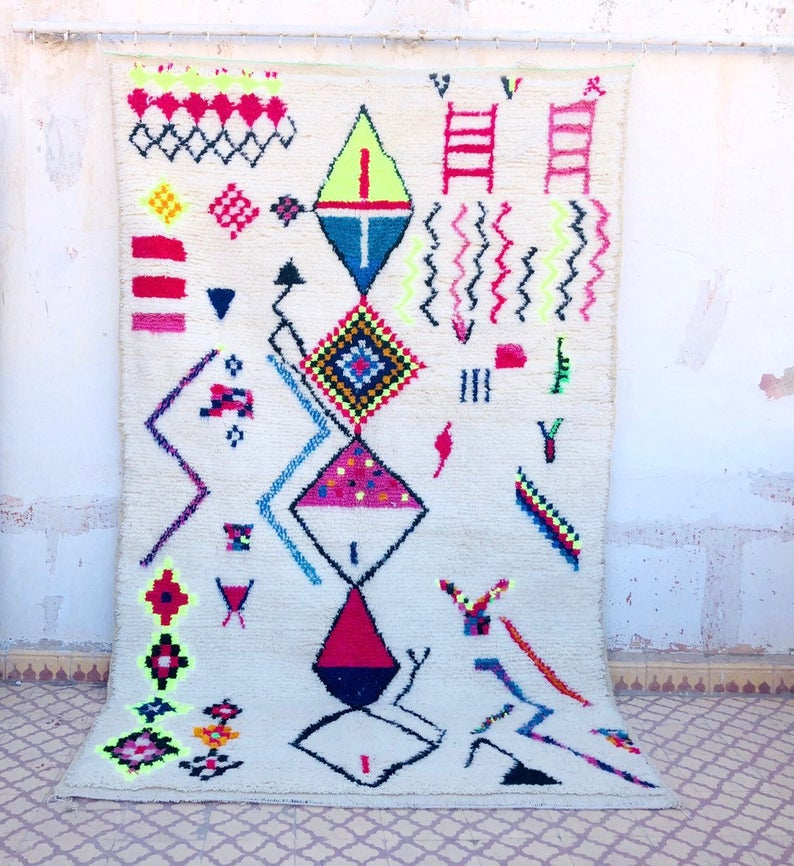 Vintage Moroccan Azilal Carpet ( only 1 in stock)