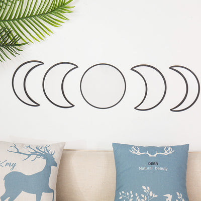 Wooden Moon Phase Mirrors