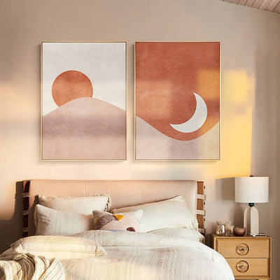 The sun and moon Canvas Wall Art