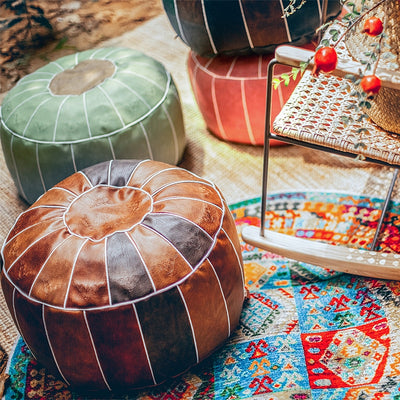 Moroccan Embroider Pouf