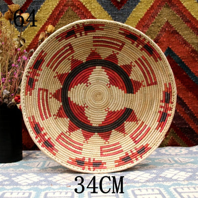 Rustic Hand-woven Straw Decoration