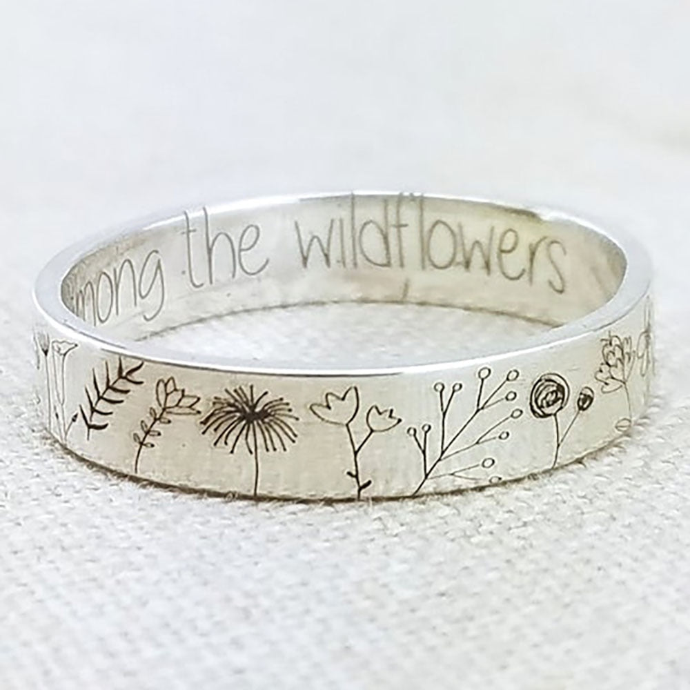 WILDFLOWER RING - you belong among the wildflower
