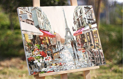 "DIY Painting By Numbers - A Street of Paris (16""x20"" / 40x50cm)"