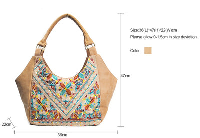 Ethnic Leather Women Handbag