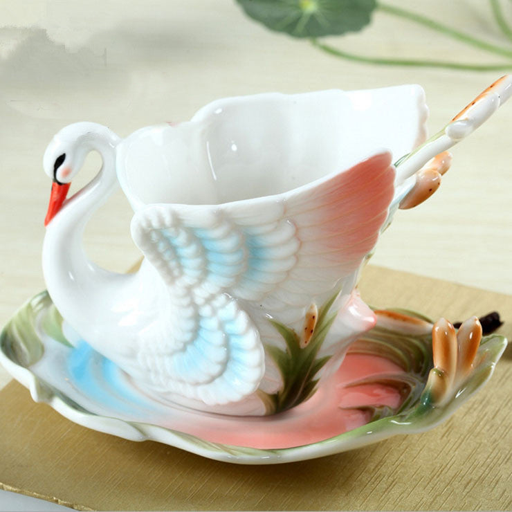 Swan Ceramic Coffee Cup