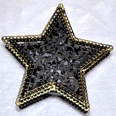 five-pointed star Moroccan candlestick