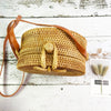 Island Hand Woven Bag Round Butterfly
