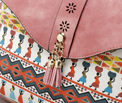 Bohemian leather messenger bags